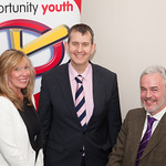 Minister Edwin Poots speaks at Opportunity Youth's 20th anniversary conference.