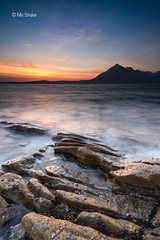 Sunset over the Cullins (Michael Straker) Tags: longexposure trip sunset skye beach canon prime scotland 20mm munros munro elgol canon6d