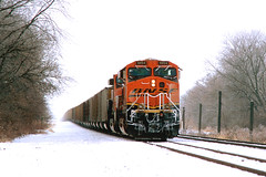 BNSF 5954 Galesburg IL DEC 2010 (CentralILRailfan) Tags: santa railroad winter snow ice burlington train illinois railway trains il crew change fe coal northern rejected bnsf galesburg 5954 rejections railpicturesnet railpictures