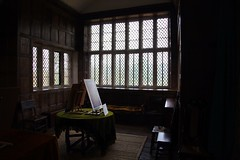 Baddesley Clinton, The Artist`s Room (Heaven`s Gate (John)) Tags: light england house art glass architecture interior clinton room atmosphere sombre artists manor nationaltrust lead 10faves baddesley leadedlights johndalkin heavensgatejohn