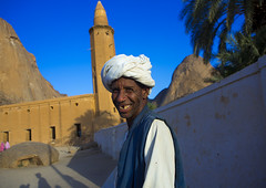Smiling Man In Front Of Khatmiyah Mosque At The Base Of The Taka Mountains, Kassala, Sudan (Eric Lafforgue) Tags: africa portrait men monument smile horizontal architecture outdoors photography day northafrica soedan minaret islam sudan religion tranquility sunny mosque turban oneperson clearsky soudan placeofworship saharadesert northernafrica traditionalclothing realpeople traveldestinations colorimage famousplace lookingatcamera jalabiya onemanonly  1people kassala szudn sudo  monaret builtstructure northernsudan northsudan      xuan eri9542