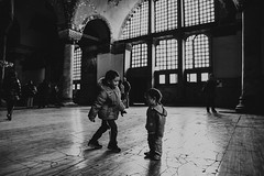 Istanbul | Brothers at Ayasofya | Hagia Sophia (wazari) Tags: city travel art history classic architecture photoshop vintage turkey photography ancient asia europe european place artistic ataturk minaret islam faith religion culture istanbul mosque retro photograph adobe journey dome destination historical ottoman taksim middleages secular turkish byzantine bosphorus masjid asean cultural turk sultanahmet traveler galata constantinople islamicart travelphotography galatatower stamboul travelphotographer wazari senibina wazariwazir