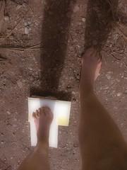 """On a Pre-Summer Day ~ Vorsommertag - """"Impression, My Book of Imprints"""" Left Food, Page 43,44 - An einem vorsommerlichen Frühlingstag Freikörperkultur in der Lobau, Dechantlacke (hedbavny) Tags: vienna wien wood selfportrait art water strand forest nude austria österreich pond sand wasser kunst au go jahreszeit natur nackt step naturism barefoot nudist naturist aquarius left links teich baden sonne wald schatten fkk footprint nas gehen frühling kunstwerk bucht erde nass naturschutzgebiet urwald sonnen barfuss presummer sonnenlicht lacke abdruck konzeptkunst lobau schritt freikörperkultur flüssig impressio sommerlich naturismus auwald aggregatzustand dechantlacke fusabdruck barfus jahreszeitenwechsel leftfood vorsommer linkerfus übergangszeit hedbavny ingridhedbavny bookofimprints 1642013 presummerly vorsommerlich"""