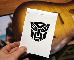 Custom decal added to front of guitar body (Jack's Instrument Services) Tags: salford luthier the fre guitartech brokenheadstock headstockbreak lowaction guitarrepairs guitaraction talesfromtheworkbench guitarsetups guitarrepairermanchester pickuprewind pickupwinding guitarsetupmanchester
