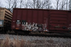Wyse (Revise_D) Tags: railroad art graffiti d30 freight revised seer trainart fr8 wyse benched a2m benching