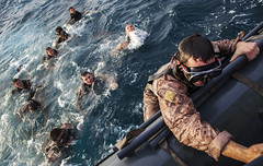 All Aboard (United States Marine Corps Official Page) Tags: ocean blue sea water usmc swimming swim military meu marines xs marinecorps atsea deployment amphibious recon mrf comcam usssanantoniolpd17 maritimeraidforce christopherqstone eagleresolve forceplatoon