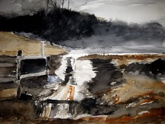 Spillway Watercolor (nkimadams) Tags: watercolor landscape wyeth