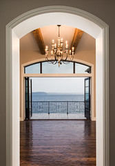 Entrance (DEARTH !) Tags: seattle door architecture design washington mediterranean unitedstates deck doorway chandelier westseattle pugetsound railing woodfloor dearth rippledesignstudio woodibeam