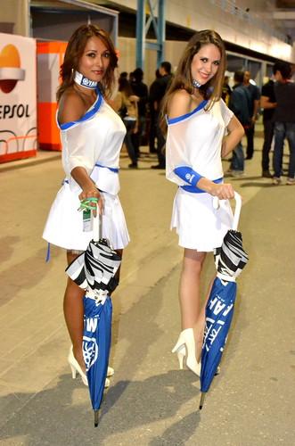 girls sexy motogp doha qatar paddock yamah