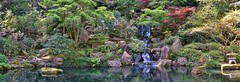 Panorama of a pool at the Portland Japanese Garden (2) (mharrsch) Tags: panorama plants pool oregon garden portland landscape japanese portlandjapanesegarden mharrsch