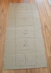 hopscotch 05 (momfetti) Tags: toddler cardboard hopscotch crayon