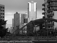 Downtown Trains (Tyler Ross Gallery) Tags: street city bridge urban blackandwhite architecture digital photography ross colorado downtown landmarks trains denver tyler highrise uncool hummers uncool2 uncool3 uncool4 uncool5 uncool6 uncool7