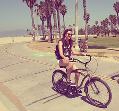 Venice Beach, CA (cecile ▲) Tags: ocean california old city trip travel blue sea summer sky sun water colors girl beautiful birds skyline vintage french landscape photography la boat blog losangeles surf ride post santamonica surfer sunny hills observatory skatepark hollywood skate pear venicebeach posh griffith tumblr