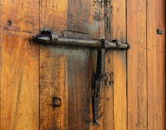 Old Latch - El Morro (rschnaible) Tags: castillo san felipe del morro el old juan puerto rico national park unesco world heritage site latch wooden door explore explored