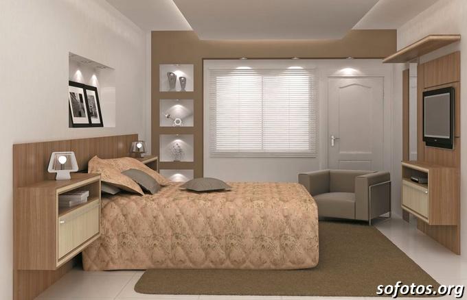 quarto de casal de apartamento