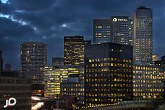 Building Paris (J P | Photography) Tags: paris building night photoshop nikon tour jp bluehour fx 70200 dri hdr parisian ladfense d800 blending puteaux parisienne parisien cs6 heurebleue jpphotography