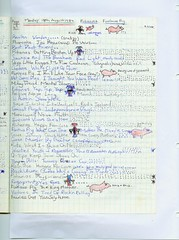 Page 49 from my John Peel show notebook of 1980 (Tishbriz) Tags: page49 johnpeel johnpeelshow furiouspig johnpeelshownotebook monday18thaugust1980 pagefortynine thepirhanas