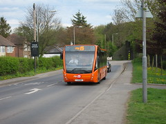 Trent Barton 805 (Lady Wulfrun) Tags: nottingham orange 15 versa speedcamera passive nottinghamshire railwaybridge trowell notts optare yourspeed trentbarton my15 wellglade yj11enk