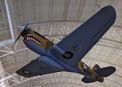 Curtiss P-40E (Mondmann) Tags: usa museum plane airplane virginia smithsonian fighter aircraft wwii worldwarii nationalairandspacemuseum kittyhawk warplane chantilly tomahawk stevenfudvarhazycenter warhawk mondmann curtissp40e fujifilmx100s