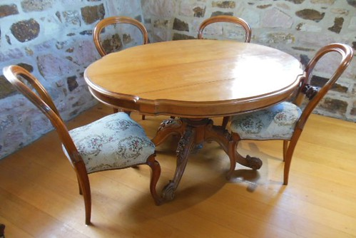 heritage stone museum table wooden chairs brisbane dining setting floorboards commisariatofstores