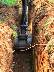 34472 Atlantis Ditch (bsabarnowl) Tags: ditch plumbing deep line drain sewer excavation atlanits 20130516