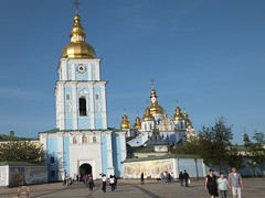 St. Michael's Golden-Domed Monastery, Kiev (Juliette_G) Tags: travel history golden spring capital churches ukraine domes kiev orthdoxchristianity