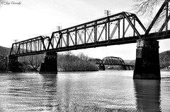 Freeport, PA (JayCass84) Tags: camera wood bridge trees blackandwhite bw fish tree nature water beautiful rural river landscape landscapes blackwhite fishing woods flickr pennsylvania awesome bridges freeport bait natureshots natureshot rurallandscape rurallandscapes instagram instagramapp