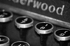The Fascinating Number 8... (emily_hope) Tags: bw black typewriter 8 numbers underwood project365 cy365
