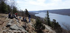 Lunch overlooking Greenwood Lake, NY (harrimanhikers) Tags: hiking hike hikers sterling harriman singles forestharriman