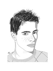Colton (Mal Booth) Tags: model drawing actor ipad