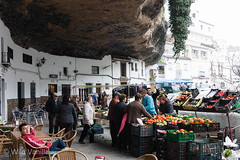 Setinel de Bodegas (WildVanilla (Rob)) Tags: houses people cliff buildings andaluca spain village market andalusia cliffside setineldebodegas