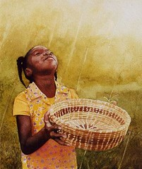 Girl With Basket (Matthews Gallery) Tags: blue b newmexico santafe art yellow watercolor painting freedom boat artwork paint artist gallery basket artgallery african paintings lewis galleries american artists painter africanamerican earl watercolors artforsale painters canyonroad watercolorist watercolorists artnews matthewsgallery galleryblog earlblewis
