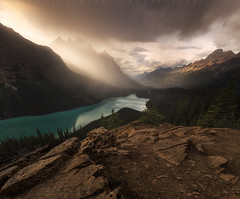 Stormy Peyto - Explored! (jasonfdarr) Tags: vancouver canadianrockies jasondarr mountains canada lake rocks peytolake clouds