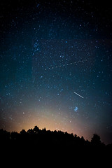 Make a wish (katarri) Tags: nikon nikond750 d750 nikkor 35mm 18 nature sky perseids meteor star stars starry shootingstar shooting makeawish astrophotography night dark black blue navyblue yellow white shine poland polska