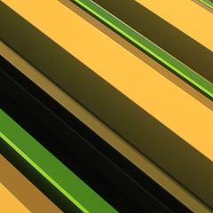Simple Abstract No.2 (No Great Hurry) Tags: viacom jacobswebber urban urbanabstract art architecture architecturalabstract closeup 550d canon facade shadow yellow green diagonal lines square camdentown robinmauricebarr nogreathurry simpleabstract abstract cmwdyellow golden