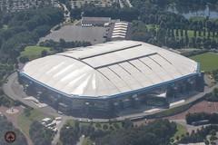 Gelsenkirchen - Schalke Veltins Arena (foto-metkemeier.net) Tags: ltuclassics dinka dehavillanddove luftbilderruhrgebiet luftbilderduisburg luftbilderessen luftbildercrangerkirmes crangevonoben rundflug ruhrgebiet