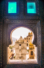 Blue View (PiccolaSayuri) Tags: udaipur india rajasthan citypalace haryana uttarpradesh madhyapradesh delhi mandawa bikaner jaisalmer jodhpur jaipur agra fathpursikri gwalior orchha khajuraho varanasi incredibleindia hindu temples forts colours people faces