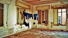 You live in a pile of dirty laundry. (BarbaraBonanno BNNRRB) Tags: abandonedarchitecture abandoned architetturafascista aschitettura fascismo httpwwwtotallylosteuspacecoloniaettoremotta flickrunitedaward washinglines decay youliveinapileofdirtylaundry barbarabonanno bonannobarbara bnnrrb bybarbarabonanno photo foto