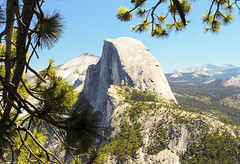 Half Dome (michael_e437) Tags: yosemite nationalpark halfdome glacierpoint mountains granite pines trees california anseladams johnmuir green blue jagged shear rock sierranevada