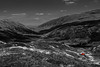 Hardknott Pass (timh255) Tags: 1855mm 52weeks lakedistrict blackwhite car cumbria d5200 hardknott hardknottpass landscape lightroom monochrome mountain nikon red road selective selectivecolour timhutchinson wrynose wrynosepass