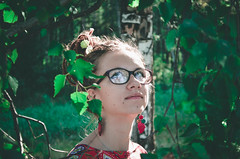 158 (Malvina Lavrientieva) Tags: nature portrait girl dreadlocks grass sun summer glasses rowan ukulele