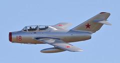 MiG-15 3 20160911 (Steve TB) Tags: duxford iwm meetthefighters 2016 canon eos7dmarkii mikoyan gurevich mig15uti norwegianairforcehistoricalsquadron