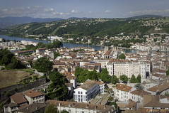 Vienne on the Rhone from Mount Pipet (Greatest Paka Photography) Tags: vienne rhoneriver river france mountpipet lyon gereriver hills medieval rhonealpes mountain skyline city travel roman