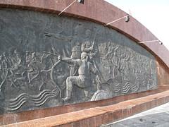 Atyrau, Kazakhstan (dr_marvel) Tags: atyrau kazakstan square relief sculpture