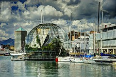 Genova La Biosfera (miiiky) Tags: genova zena porto biosfera biosphera renzo piano renzopiano
