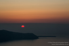Sunset in Fira, Santorini, Greece