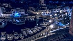 2171  Puerto de Ciutadella, Menorca (Ricard Gabarrs) Tags: agua mar puerto water noche nocturna barco barcos barca playa ciutadella ricardgabarrus ricgaba olympus airelibre