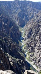 The Gunnison River in the Black Canyon (lhboudreau) Tags: outdoors outdoor landscape landscapes southrim colorado usa rimdrive rimdriveroad blackcanyon gunnison blackcanyonofthegunnison westerncolorado park nationalpark blackcanyonofthegunnisonnationalpark gunnisonriver canyon canyons river stone cliff cliffs rock rocks chasm crag rockformation rockformations blackrock blackrocks gorge