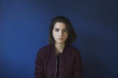 Self, 2016. (Maike Born) Tags: selfportrait self personal myself girl blue wall cold natural lighting maike born
