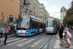 2016-09-17 Praha Tramways Nr.9141 + 9236 (beranekp) Tags: czech praha prag prague strassenbahn šalina elektrika električka tram tramway tranvia tramvaj škoda 9141 9236